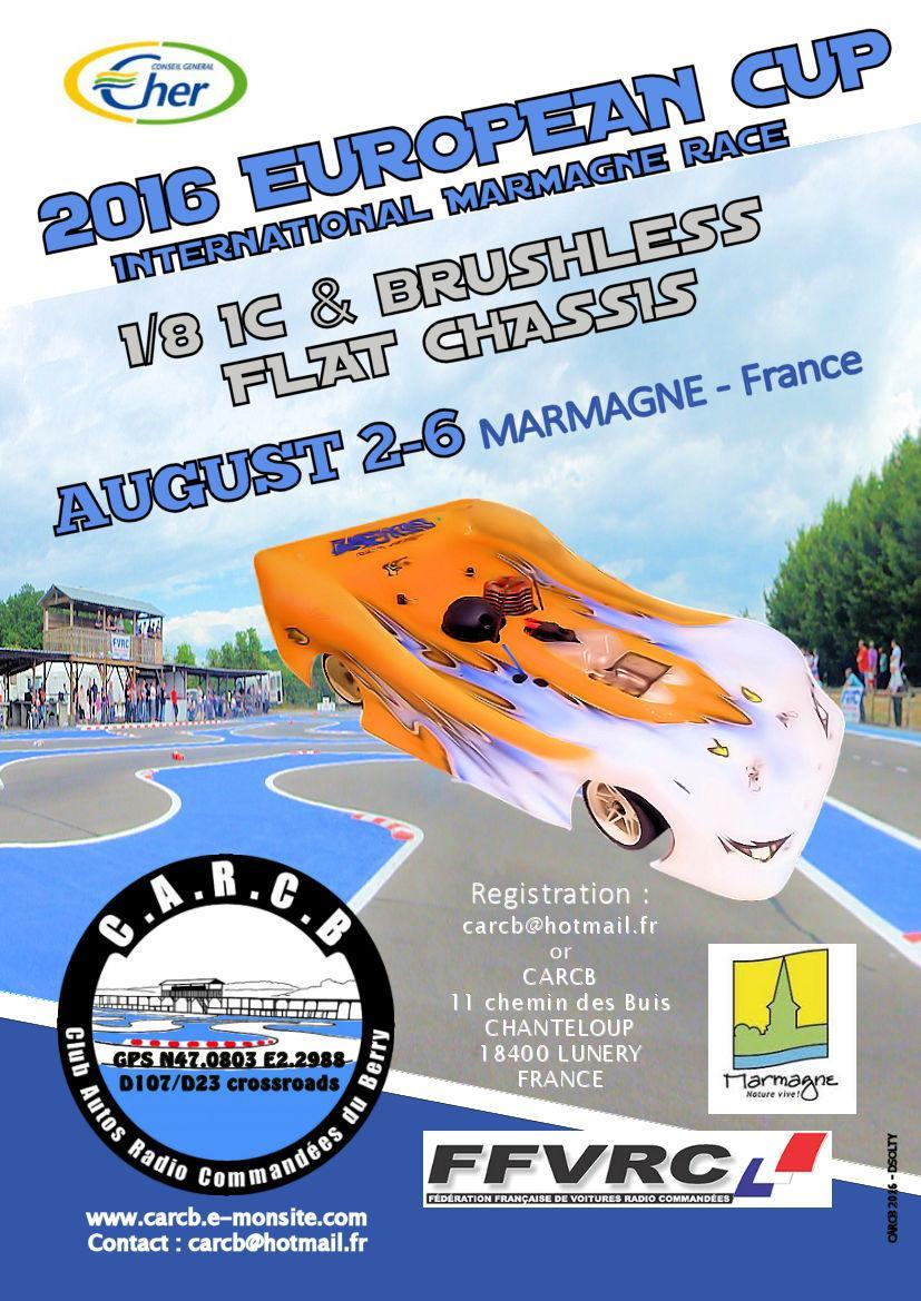 Event Ecup flat chassis CARCB Marmagne 2 to 6 august 2016