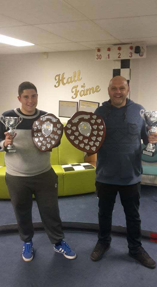 Ben and Owen with Trophies Lobith 2016